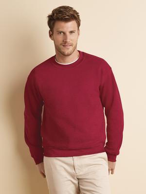 red fleece crewneck and sweater.