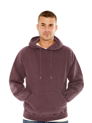 burgundy sand canadian fleece pullover hoody.