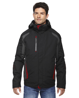 3-in-1 jacket in black and red.