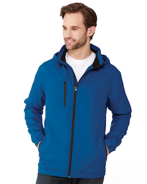 lightweight polyester microfleece lined jacket in blue.