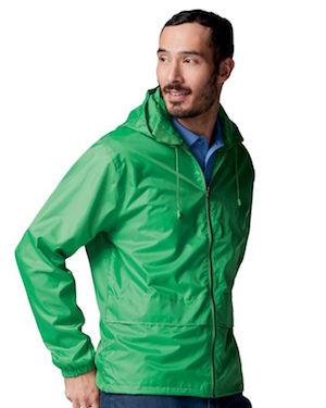 windbreaker jacket in green.