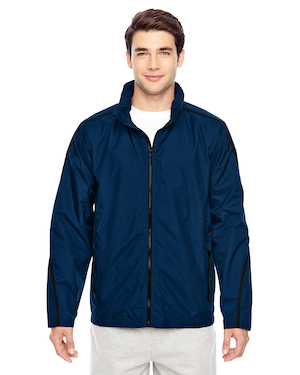 two tone soft shell jacket in blue.
