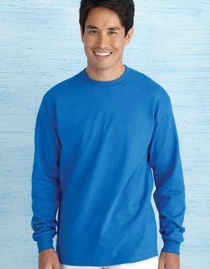 royal blue long sleeve t-shirt.