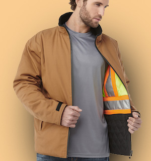 shop for corporate branded work and safety wear.